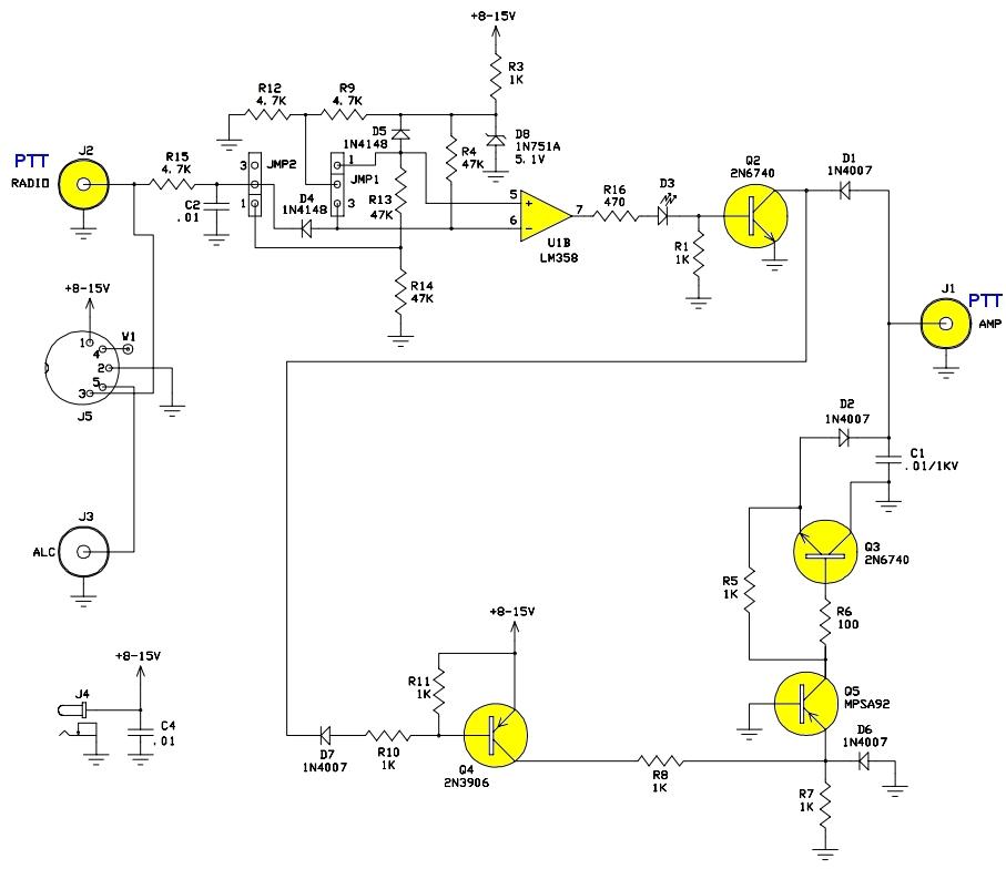 FT 2000 : Connexion AMPLI AMERITRON avec interface Ameritron ARB-704 Arb704-schema