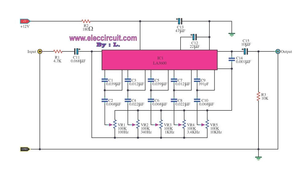 Equalizer : Traitement BF audio ( UR6GW ) Shema-eq-5-bandes-clair