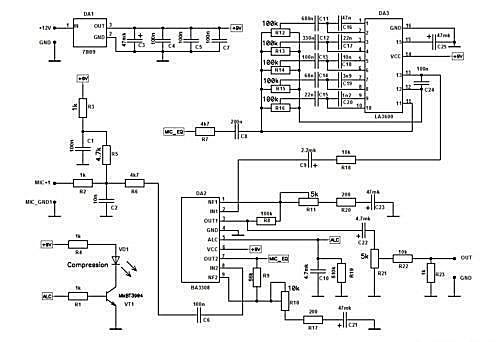 Equalizer : Traitement BF audio ( UR6GW ) Shema-eq-5-bandes