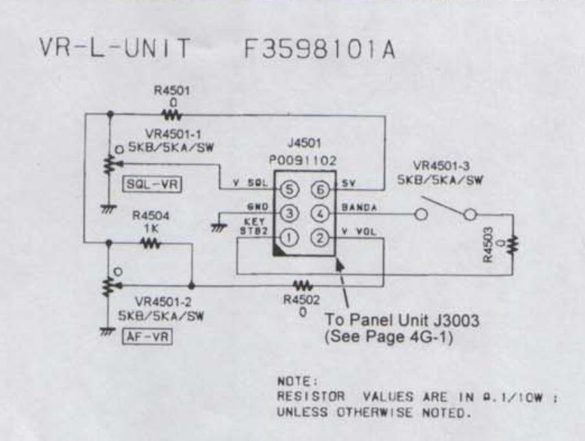 YAESU FT8100R : Recherche du potentiomètre de volume/squelch Potentiometre-volume