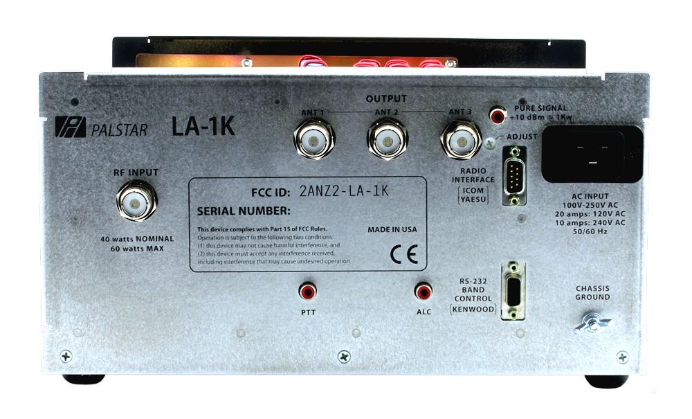 Palstar Amplificateur HF à transistors LA-1K La1k-rear